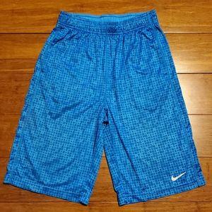 Nike Boy's Dri-Fit Blue Athletic Shorts